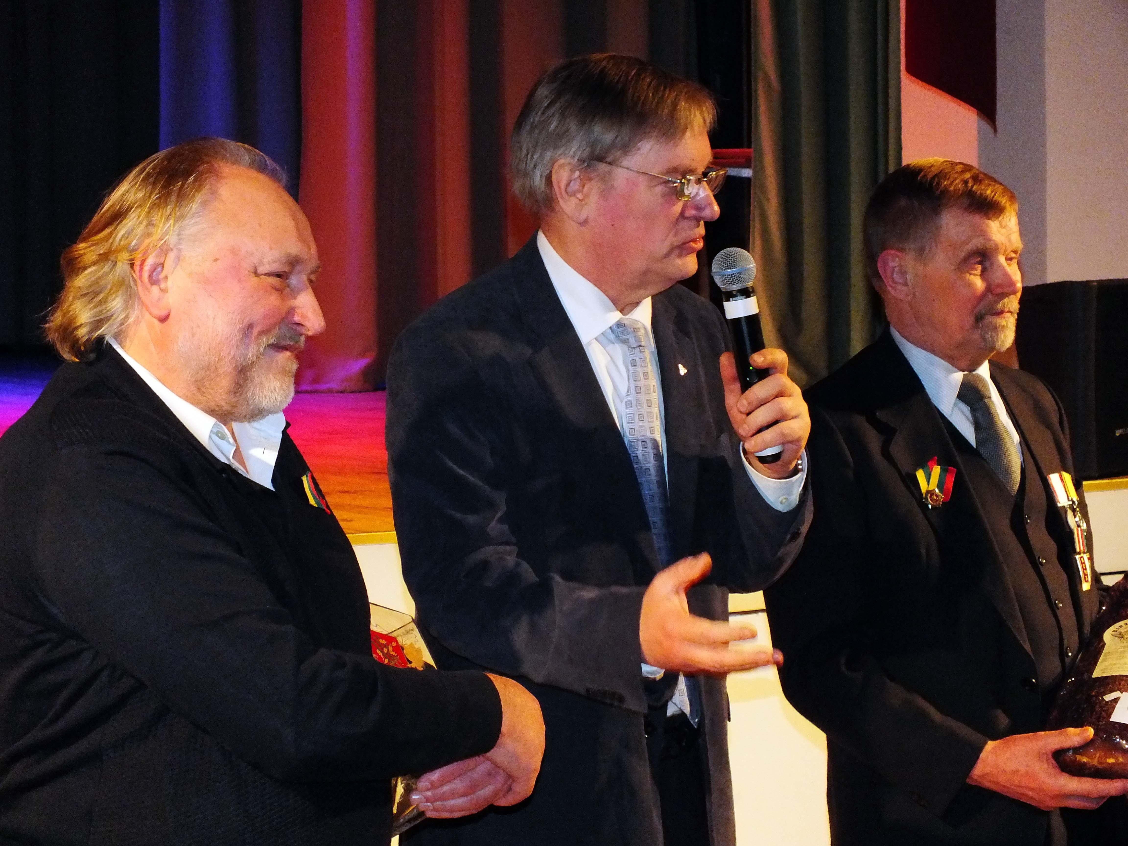 Iš kairės: G. Aukštikalnis, R. Ražukas ir P. Paleckis | P. Šimkavičiaus nuotr.