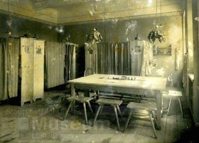 Karo mokykla Kaune, fotografuota 1917 m., tarp rugpjūčio ir spalio – miegamasis gyvenamsis kambarys | Leipzigo miesto muziejaus nuotr.