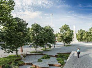 Greta S.Dariaus ir S.Girėno stadiono esanti aikštė   Kauno miesto savivaldybes administracijos nuotr.