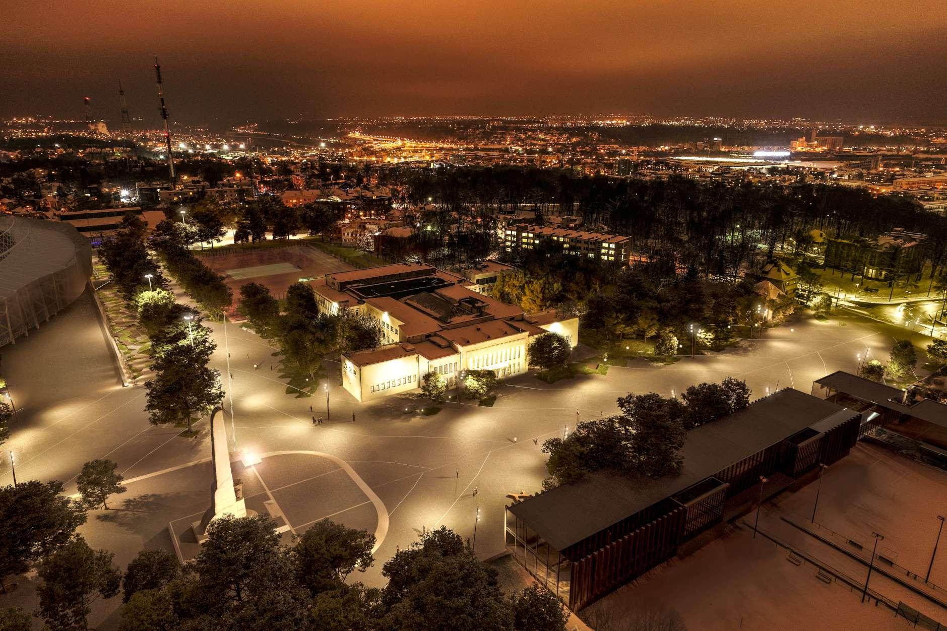 Greta S.Dariaus ir S.Girėno stadiono esanti aikštė | Kauno miesto savivaldybes administracijos nuotr.