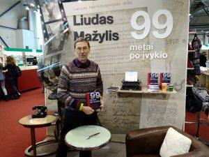 L. Mažylis Vilniaus knygų mugėje 2018 | rengėjų nuotr.