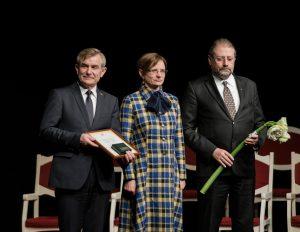 2017 m. medalio teikimo ceremonijos akimirka | Panevėžio kraštotyros muziejaus nuotr.