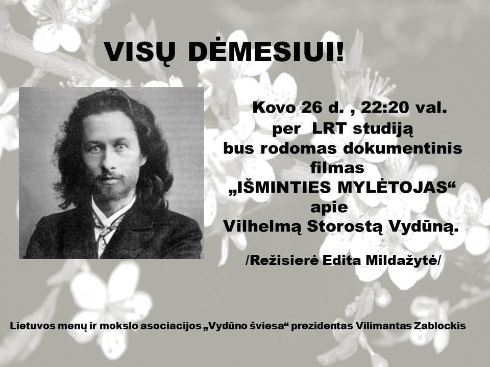 2018 03 26 Vydūnas