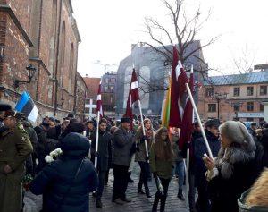 Rygoje vėl paminėta Latvijos legionierių diena | S. Gorodeckio nuotr.