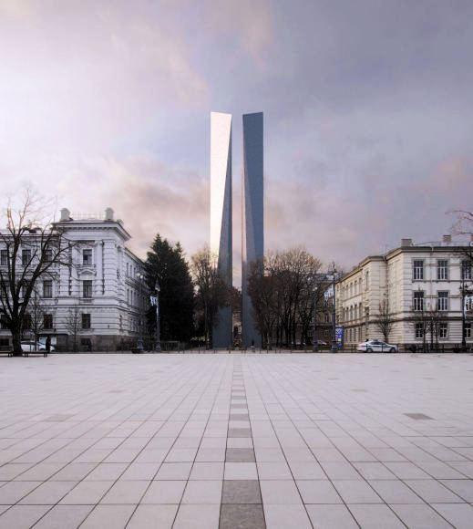 Architekto A. Ambraso obeliskas | Wikipedia.org nuotr.