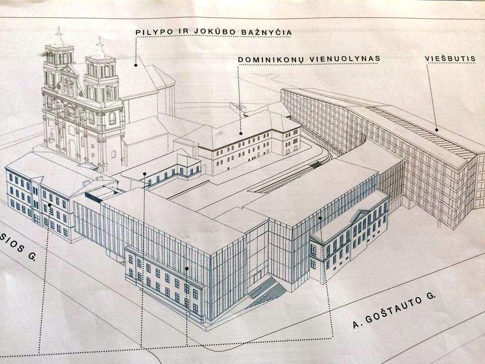 Planuojamos statybos prie Šv. Pilypo ir Jokūbo bažnyčio | Rengėjų nuotr.