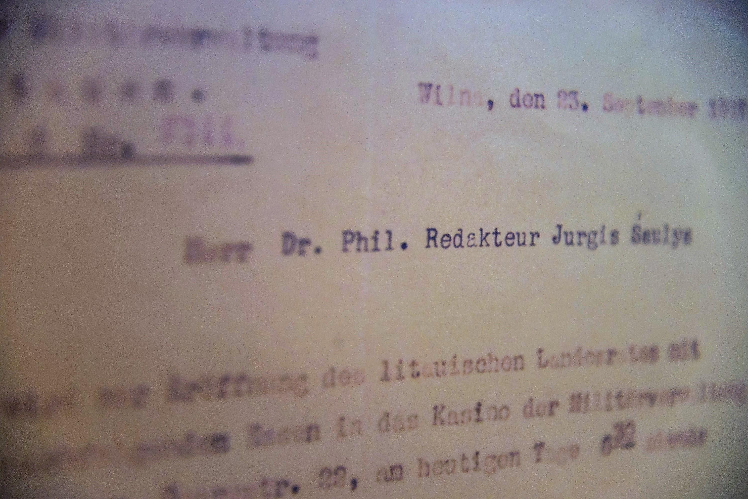 Dokumentai iš signataro J. Šaulio asmeninio archyvo JAV | vdu.lt nuotr.