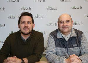 Karolis Žukauskas ir Gerimantas Statinis | Alkas.lt nuotr.