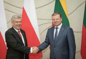 Premjeras susitiko su Lietuvoje viešinčiu Lenkijos Respublikos Senato Pirmininku Stanislavu Karčevskiu | lrv.lt nuotr.