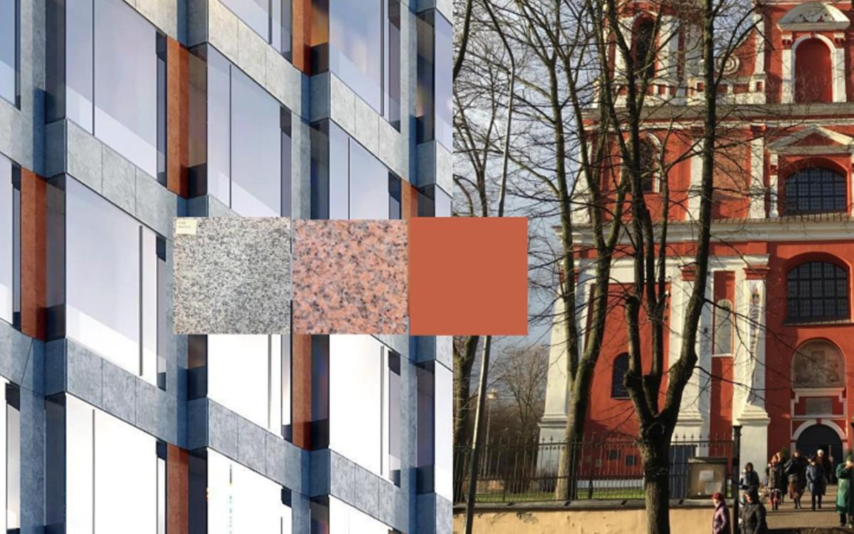 Šv. Pilypo ir Jokūbo bažnyčios vaizdas nuo upės pusės būtų iki pusės užstatytas stikliniu naujadaru | Vilnius.lt nuotr.