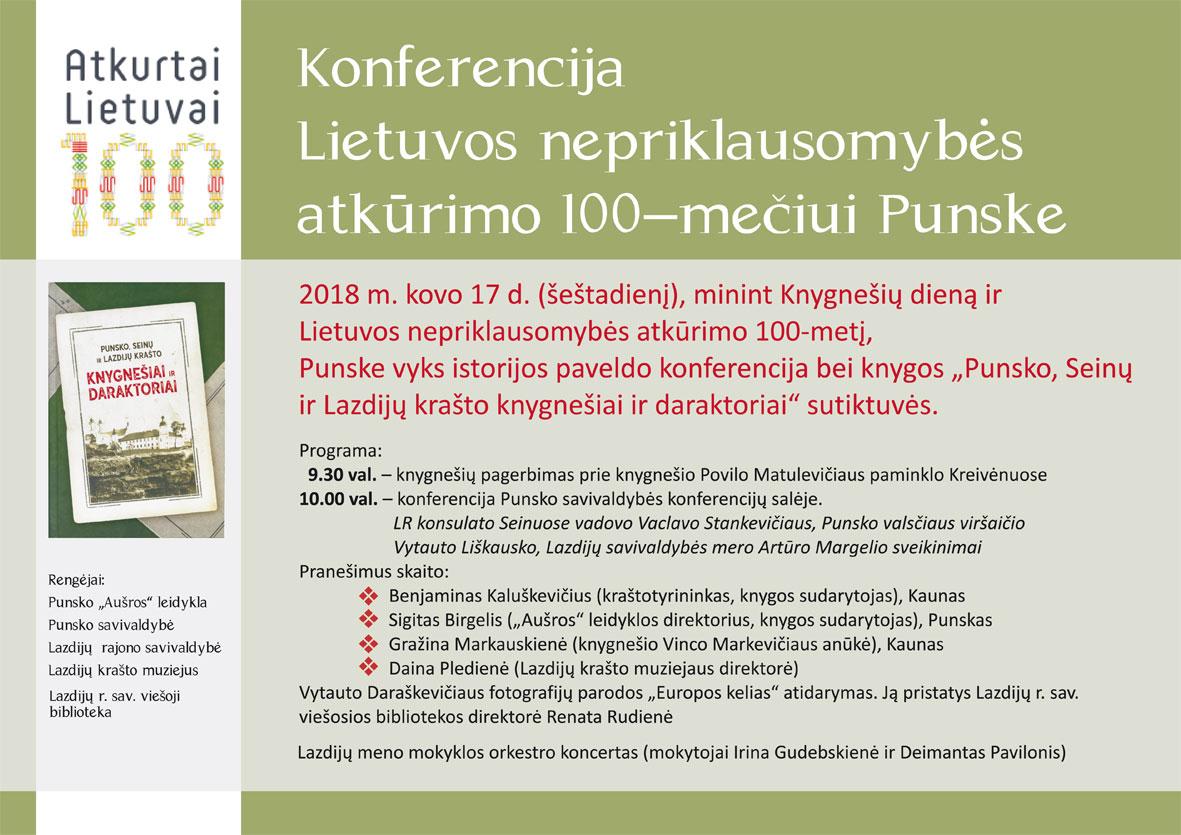 Kvietimas į konferenciją | Punsko savivaldybės nuotr.