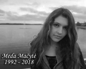 Meda Mačytė (1992-2018 | Šeimos nuotr.