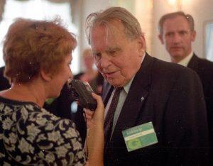 Česlovas Milošas Lietuvos respublikos Prezidentūroje. 1997 metai | P. S. Krivicko archyvo nuotr.