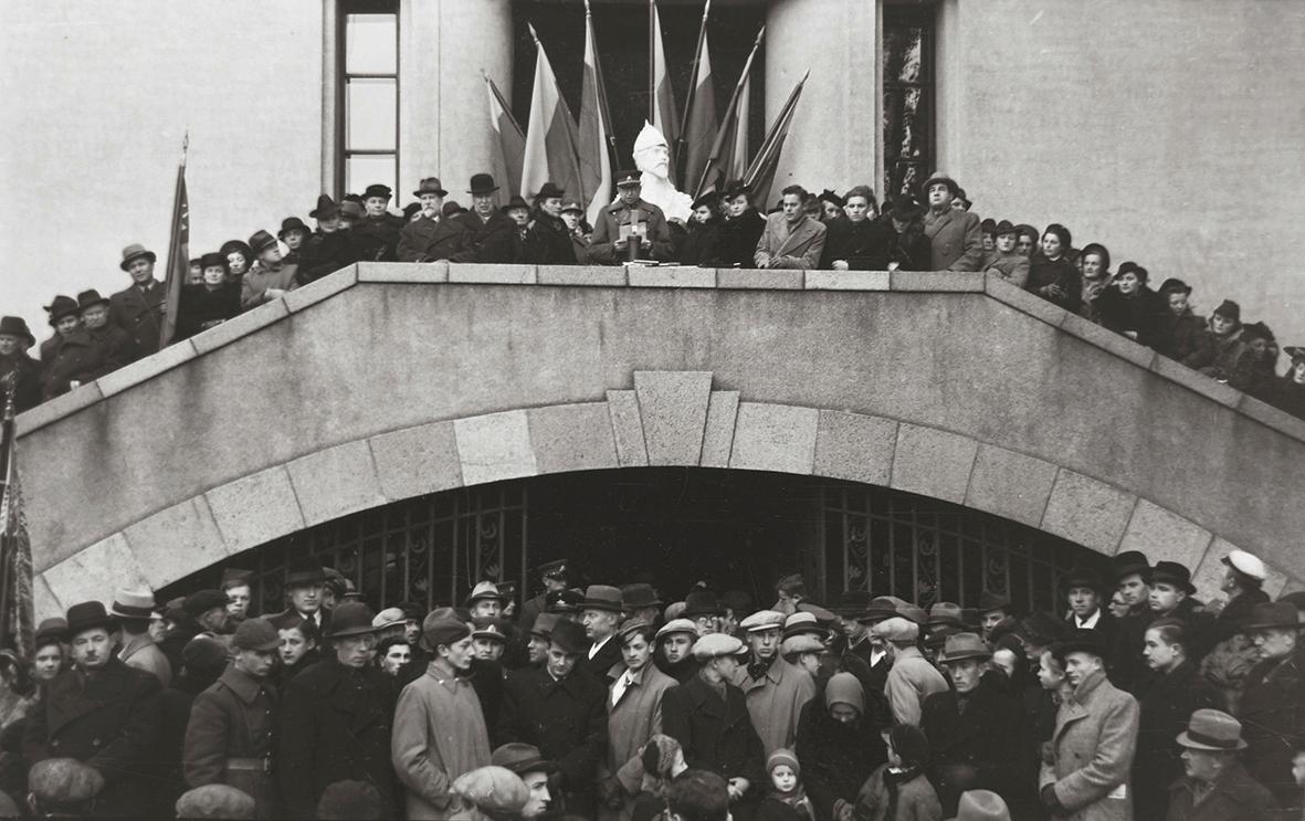J. Miežlaiškis. Mitingas prie Karo muziejaus. Kaunas. Apie 1938 m. | V. Juraičio archyvo nuotr.