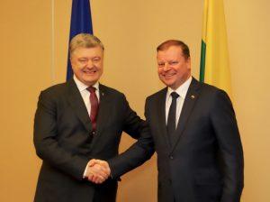 Ukrainos prezidentas Petro Porošenka ir Lietuvos premjeras Saulius Skvernelis | lrv.lt nuotr.