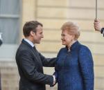 Lietuvos Respublikos Prezidentė Dalia Grybauskaitė susitiko su Prancūzijos Prezidentu Emanueliu Makronu | lrp.lt nuotr.