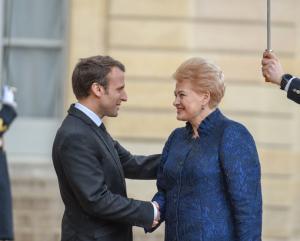 Lietuvos Respublikos Prezidentė Dalia Grybauskaitė susiitiko su Prancūzijos Prezidentu Emmanueliu Macronu | lrp.lt nuotr.