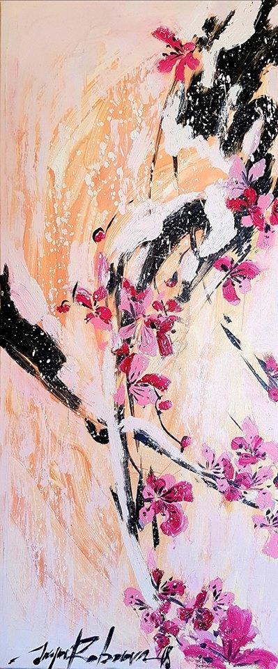 Sakura ant drobės | L. Šapnagio nuotr.