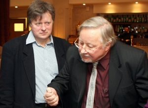 Vytautas Landsbergis su Andriumi Tučkumi | I. Sidarevičiaus nuotr.