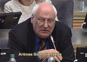 Seimo narys Arūnas Gumuliauskas | Alkas.lt ekrano vaizdo nuotr.