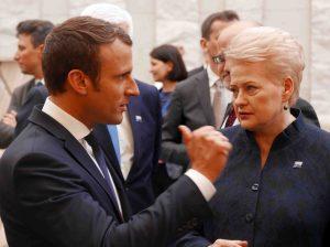 Emanuelis Makronas ir Dalia Grybauskaitė | lrp.lt, R. Dačkaus nuotr.