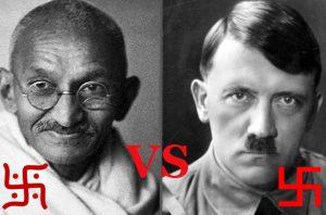 Gandis vs Hitleris | Alkas.lt koliažas.