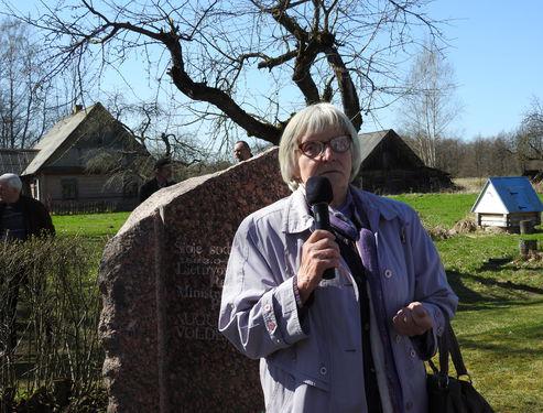 Augustino Voldemaro gimtinėje paminėtos 135-osios jo gimimo metinės | Ignalinos rajono savivaldybės nuotr.