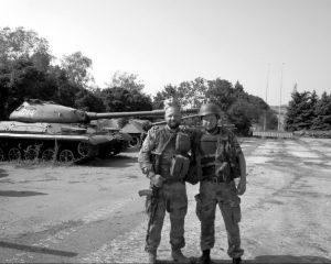 Su Roma Monachu iš 51-osios brigados | M. Muzykos nuotr.