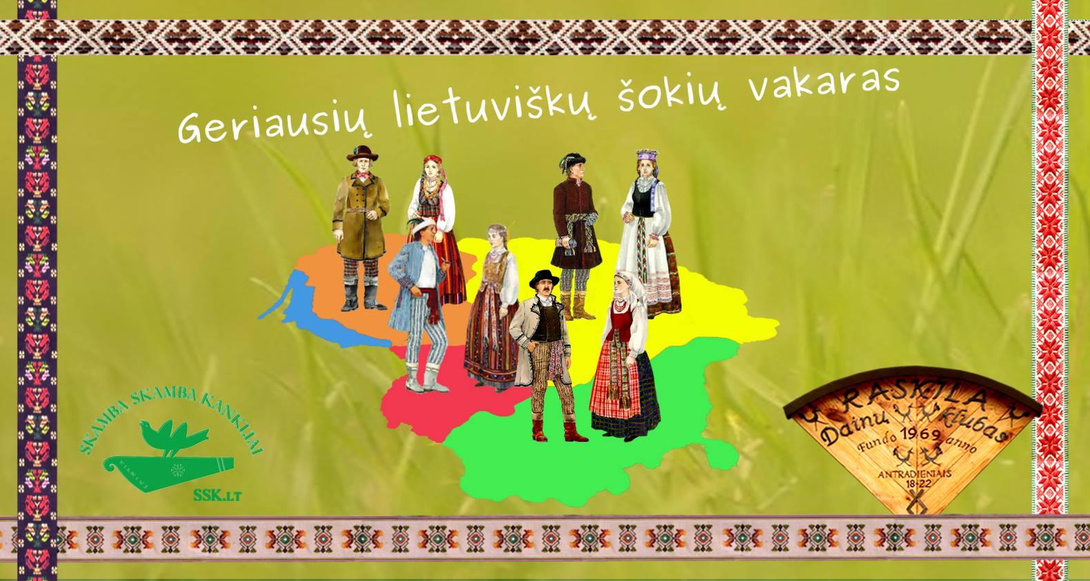 Geriausių lietuviškų šokių vakaronė