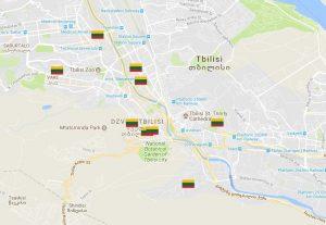 Gruzijos žemėlapis | urm.lt nuotr.