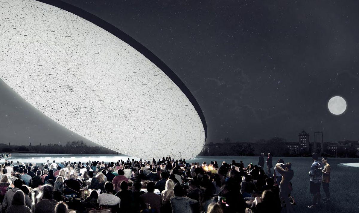 """Kaune Nemuno saloje planuojama statyti """"Mokslo salą""""   SMAR Architecture Studio pav."""