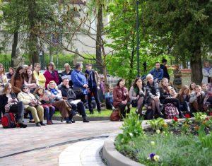 Gegužės 7 d. Lituanistiniai institutai sureng literatūrinę protesto akciją | Rengėjų nuotr.