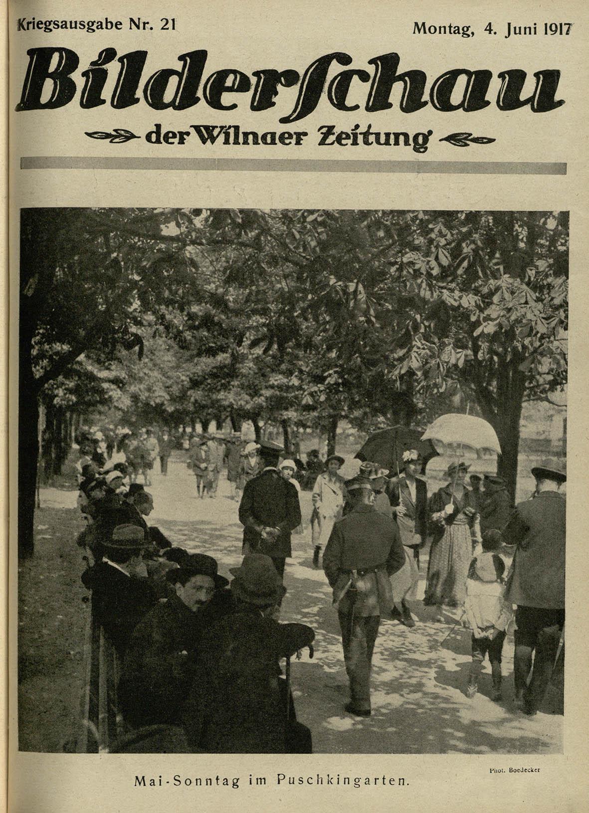 Miestas ir aikštės. Gegužės sekmadienis Puškino sode   L. Boedeckerio nuotr.