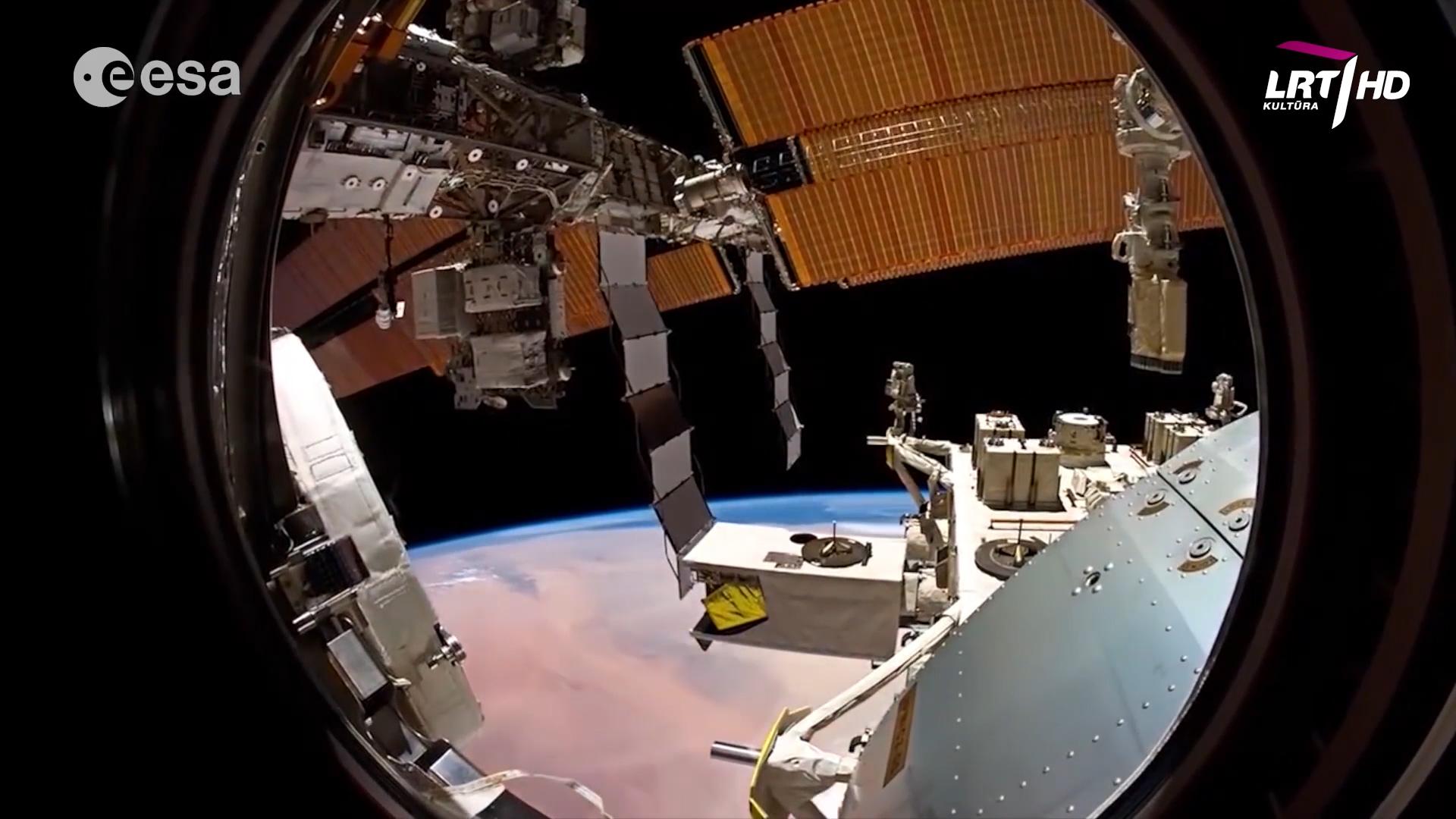 Tarptautinė kosminė stotis – trečias ryškiausias objektas danguje po Saulės ir Mėnulio | LRT nuotr.