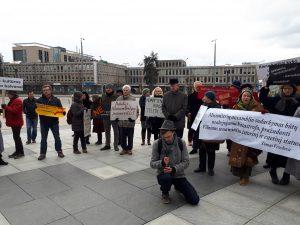 Piketas Vilniuje | Vilniaus bendruomenių asociacijos nuotr.