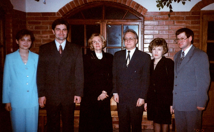 Punsko valsčiaus viršaičiai. Iš dešinės R. Vitkauskas, K. Baranauskas ir V. Liškauskas su žmonomis | punskas.pl nuotr.