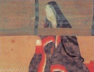 Sei Šionagon. XVII a. pabaigos piešinys | Vikipedijos nuotr.