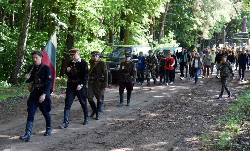 """R. Karoblis: """"Šiandien švenčiama Visuomenės ir kariuomenės vienybė – geriausias partizanų atminties įamžinimas""""   G. Maksimovicz nuotr."""