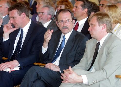 Sąjūdininkai (iš kairės) – Arvydas Juozaitis, Romualdas Ozolas ir Zigmas Vaišvila | Respublika.lt nuotr.