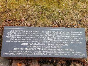 A. Ramanausko-Vanago suimties vietai pažymėti skirtas paminklas_| V. Striužo nuotr.