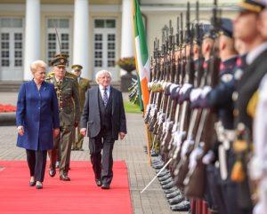 Airijos Respublikos Prezidentas Michaelis D. Higginsas ir Lietuvos prezidentė D. Grybauskaitė | lrp.lt nuotr..lt