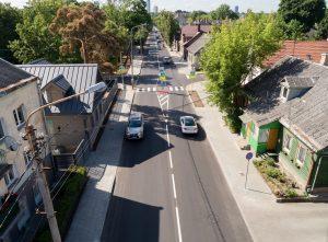 Sutvarkyta Vytauto gatvė | S. Žiūros nuotr.