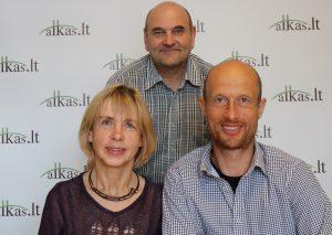 Ona Nosevičienė, Gerimantas Statinis ir Vytautas Nosevičius | Alkas.lt nuotr.