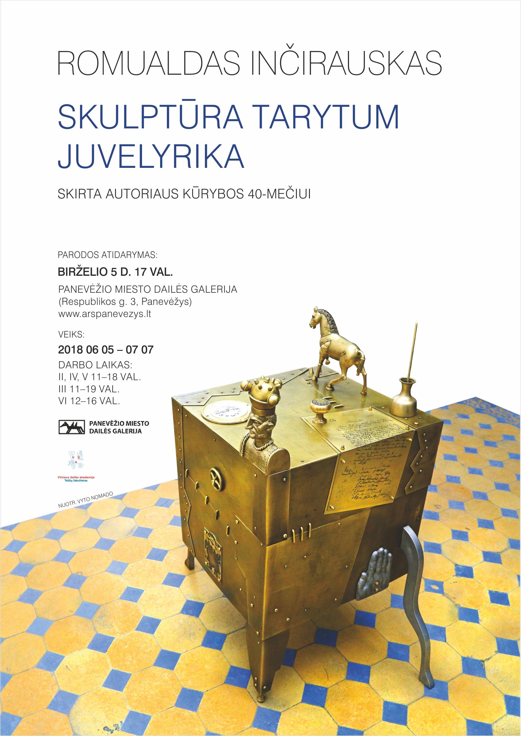 Inčirausko parodos plakatas | Panevėžio miesto dailės galerijos nuotr.