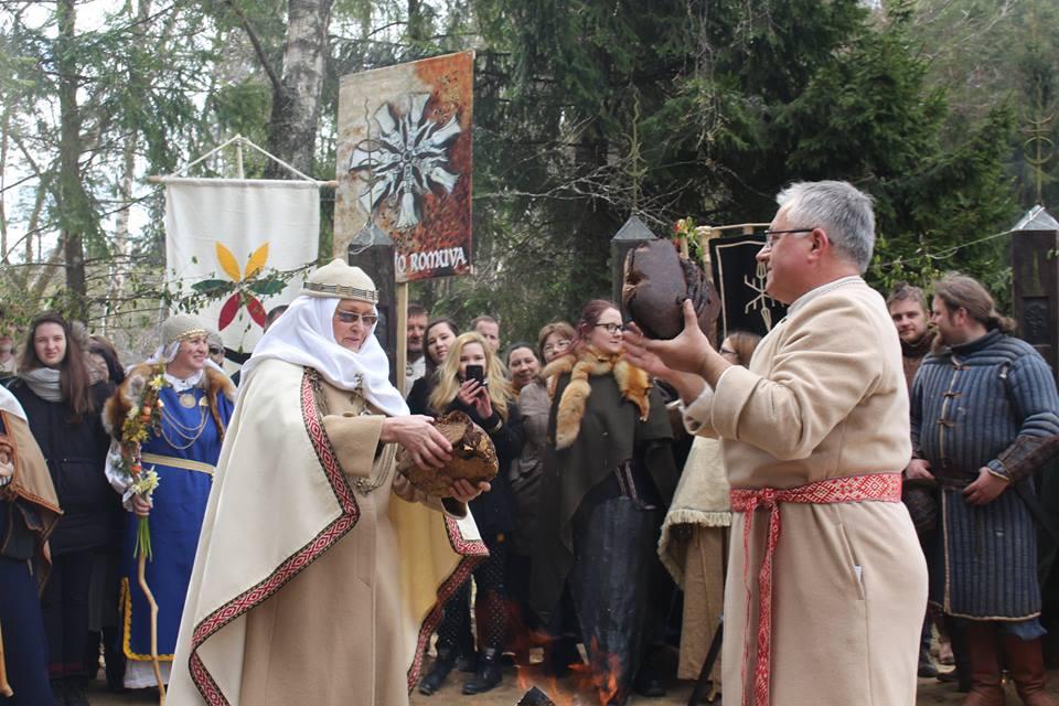 Romuviai švenčia Jorės šventę. | Asmeninio archyvo nuotr.