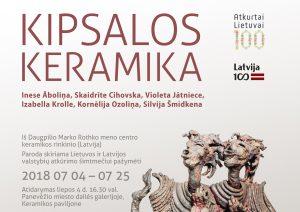 Kipsalos keramika – plakatas | Panevėžio miesto dailės galerijos nuotr.