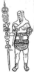 Romėnų karys ženklanešys. Iš: Dalia Dilytė, Senovės Romos kultūra, Vilnius: Metodika, 2012, p. 68 | satenai.lt