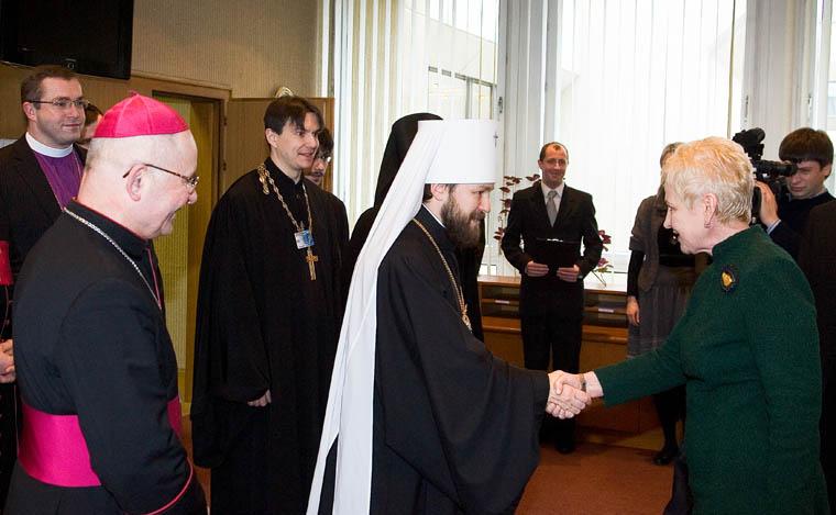 Seimo Pirmininkė I. Degutienė susitiko su ortodoksų, katalikų ir liuteronų bendruomenių vadovais | lrs.lt nuotr.
