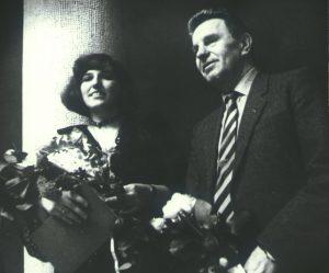 Audronė Žigaitytė ir Justinas Marcinkevičius, Klaipėda 1988-04-23 | B. Aleknavičiaus nuotr.
