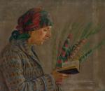 Eugenia Sienkiewicz-Przyałgowska (1891–1966).  Moteris su verbomis. Fragmentas   Vytauto Kasiulio dailės muziejaus nuotr.